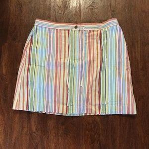 Christopher & Banks multicolored striped skirt